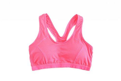 EOZY Soutien-gorge de Sport Droit Femme Running Fitness Pigeonnant Pas Armature Lingerie Sport HotPink