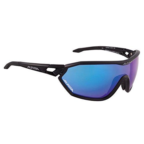 ALPINA S-Way cm Promo Outdoorsport-Brille, Black Matt, One Size