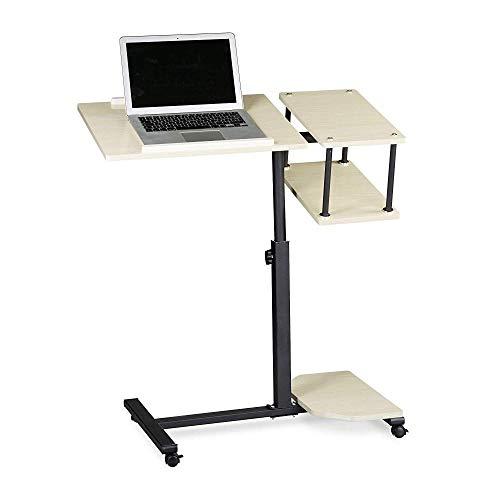 Azw@ tavolino per laptop - carrello da tavolo multifunzione regolabile per scrivania con supporto per laptop,bianca,40 * 77 * 100