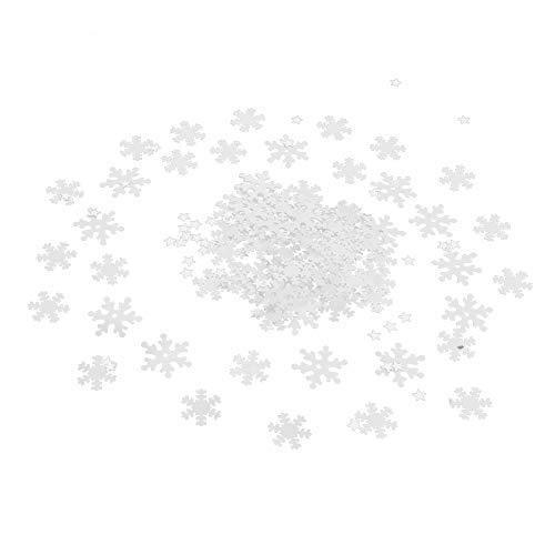 Kunststoff Schneeflocken fünfzackigen Stern Weihnachtsuhr Form Konfetti für Winter Weihnachtsfeier Dekoration ()