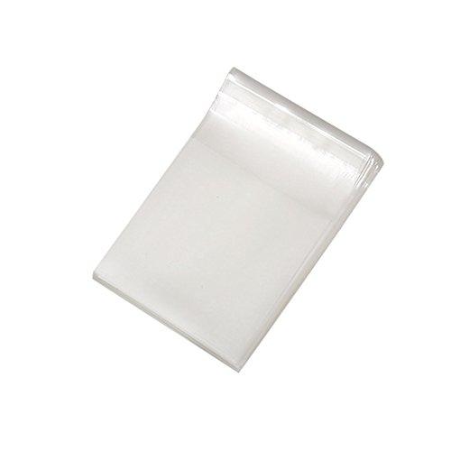 Butterme 100 Stück Clear Resealable Cellophan Taschen mit Kleber Verschluss für Geschenke, Bäckerei, Kerze, Seife, Cookie,7*7cm