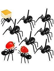Pinowu Ameisenfutter-Picks Wiederverwendbare Obst Dessert Gabel (24 stück), Ameisen Zahnstocher Tier-Appetizergabel für Snack Kuchen Dessert mit Geschenkbox