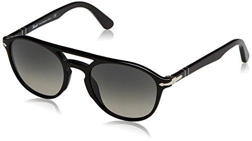 Persol Herren 3170 Sonnenbrille, Schwarz (Black Grey), 52