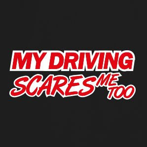 My Driving scares me too V2 - Stofftasche / Beutel Natur