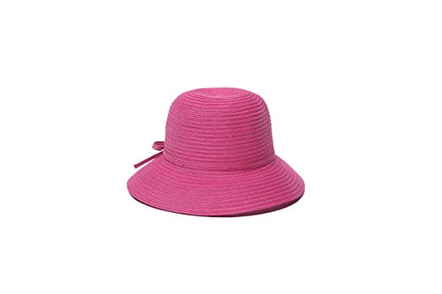 physician-endorsed-womens-mae-fold-roll-tie-packable-cloche-hat-pink-one-size