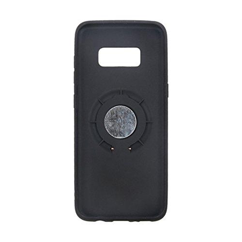 Wkae TPU + PC schützender rückseitiger Fall mit Ring-Halter für Samsung-Galaxie S8 ( Color : Black ) Black