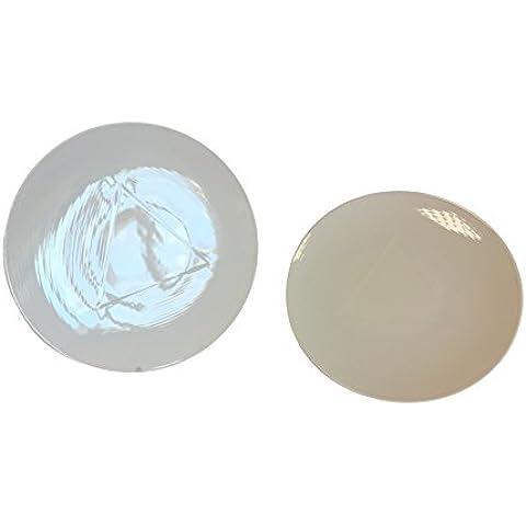 Cim Alta Gastronomía Philotaxia - Set de 6 platos llanos, forma de triángulo, 27 cm, color blanco