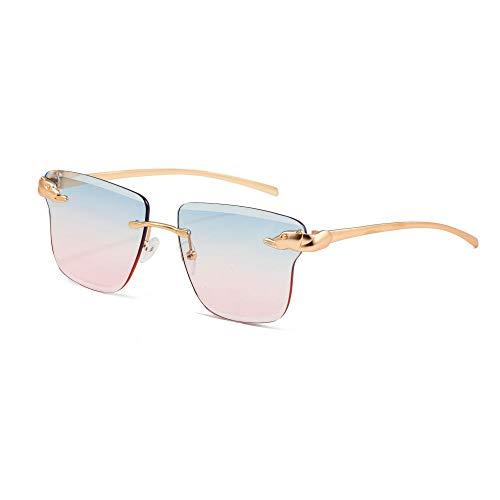 ZYYJ Sonnenbrillen, Sonnenbrillen Damen UV-Schutz Sonnenbrillen weibliche koreanische Version der Flut Modelle rahmenlose Sonnenbrille kleines Gesicht Modelle@Stil 4