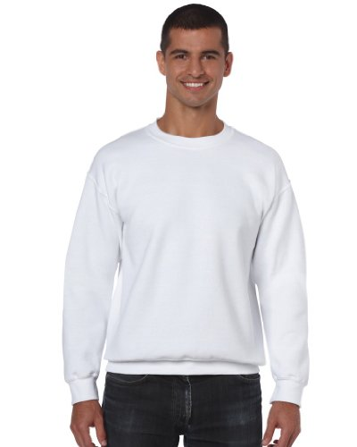 Gildan Dejected Blend Pullover mit Rundausschnitt (M) (Weiß) M,Weiß