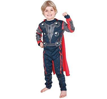 The First Avenger - Lizenziertes Thor-Kostüm für Kinder/Jungen - Größe M (Thor Kostüm Junge)
