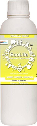 ECOLIFE 100% Natural Laundry Whitener Brightener, Vanilla Bean (200ml)