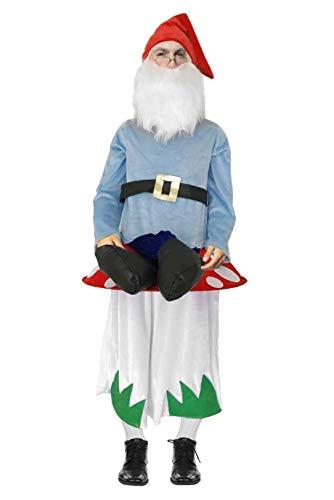 shoperama Lustiges Step-In Huckepack Kostüm Piggy Back Aufsitz Reiter Trag Mich JGA Junggesellenabschied, Variante:Zwerg auf Pilz