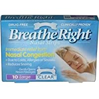 Breathe Right Nasal Strips 10 Large Clear for Dry/Sensitive Skin preisvergleich bei billige-tabletten.eu