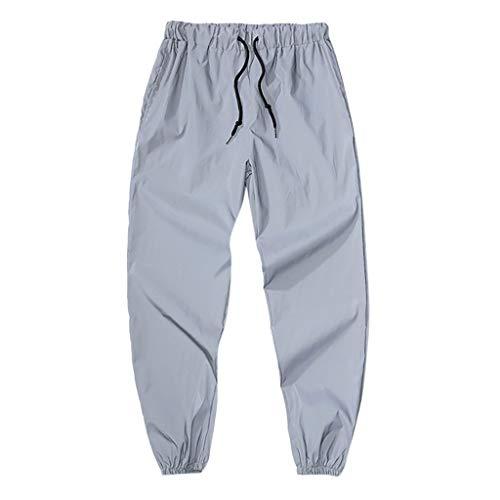 Setsail Herren Fashion Lange Hosen Kordelzug elastische Taille Bequeme Sporthose Freizeithose Trainingshose - Verstellbare Taille Smoking Hosen