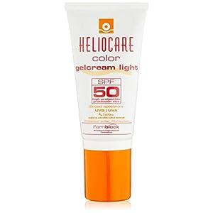 Heliocare Color Gelcream SPF 50 – Fotoprotección Avanzada con Color, Fluido Hidratante en Textura Gel, Acabado Natural, Pieles Normales y Secas, Tono Light, 50ml