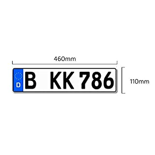 Kfz Kennzeichen mit Eurofeld 460x110mm, reflektierend, aus Aluminium