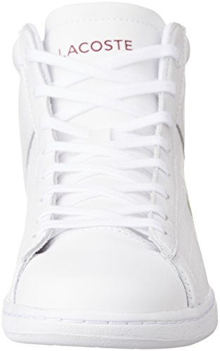 Lacoste Carnaby Evo Mid G316 2, Sneaker Alte Donna Weiß (Wht/Red 286)