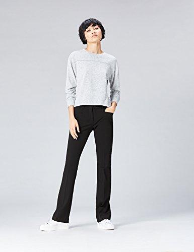 FIND Hose Damen mit Schlag und Schlitztaschen, Schwarz (Black), 40 (Herstellergröße: Large) - 2