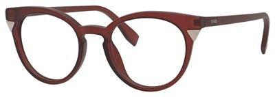 Fendi - FENDI ANGLE FF 0127, Rund, Optyl, Damenbrillen, BURGUNDY(MQN), 50/19/140