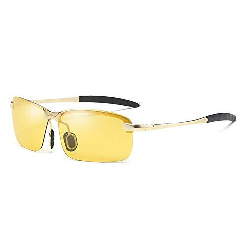 YANKAN Sonnenbrille Der MäNner Farbe Wechselnden Polarisiertem Licht Sicheren Uv-Blockierenden Hochwertigen Objektiven Tag Und Nacht Fahren, Fliege