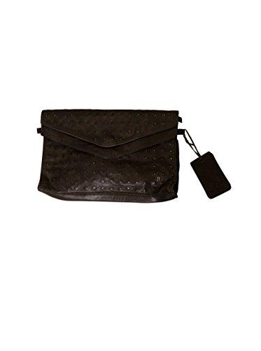 Another Bag Damen Clutch Envelope Studs in Grau (Stud Shopper)