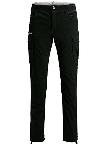 Jack & Jones Men's Jjipaul Jjchop Ww Black Noos Trouser