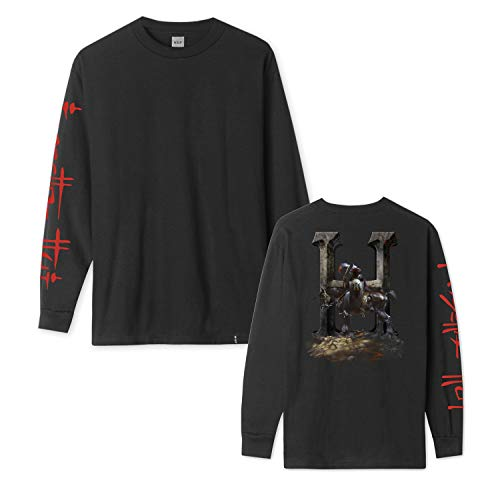 HUF Skateboard Longsleeve Shirt Frazetta Death Dealer Black