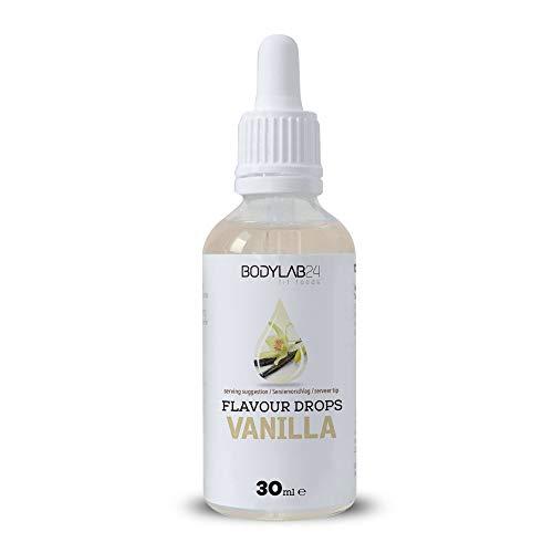Bodylab24 Flavour Drops | 50g | Vanilla | Leckere, kalorienfreie Aromen für deinen Eiweißshake, Smoothie, Joghurt, Quark oder zum Backen