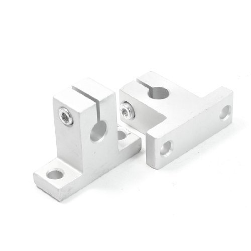 sourcingmap® 2 pezzi SK8 8mm Lineare Sbarra Albero Bloccaggi Guida Supporto per XYZ Tavolo