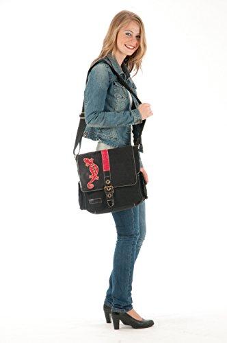 Sunsa Messengertasche, Borsa a tracolla donna Multicolore multicolore Größe ca. (BxHxT): 31x35x12 cm, nero (Multicolore) - 50280 nero