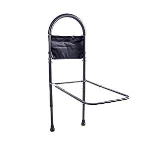 Cheng-Badehocker Bett Haltegriffe Bett greifen Handlauf Alter Mann aufstehen Handlauf Booster Dose 10 Blöcke Höhe einstellen Erwachsene Nacht Handläufe (schwarz)