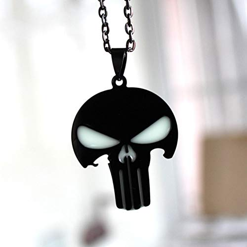 YANOAID Skelett Glühende Halskette Punk-Halskette Anhänger Halsketten Glühen Im Dunklen Amulettgeschenk