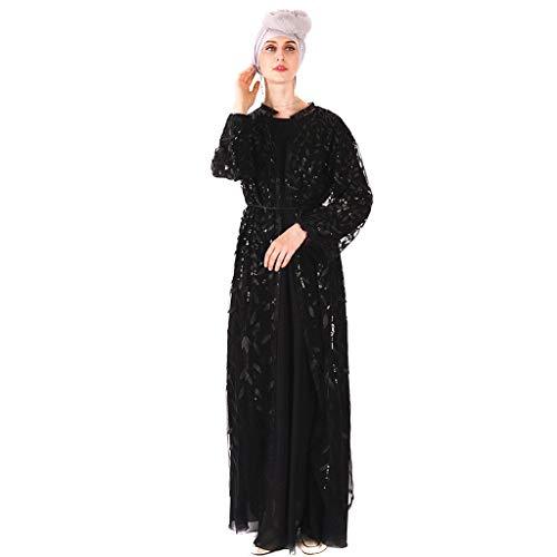 GJKK Muslimische Kleider Islamische Muslim Langarm Maxikleid Abaya Kaftan Arabische Kleidung Abendkleider Muslimische Langes Kleid Elegant Moslemischer Muslimische Roben - Maternity Bleistiftrock