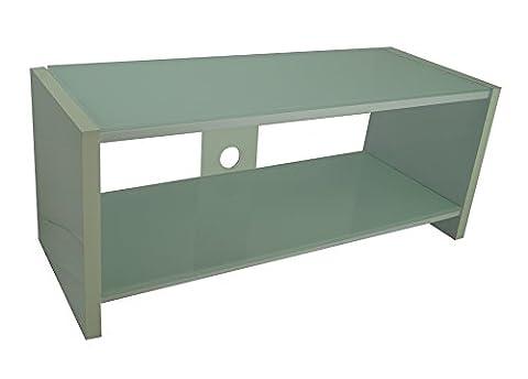 MountRight Designer High Gloss All White TV Stand Cabinet Unit