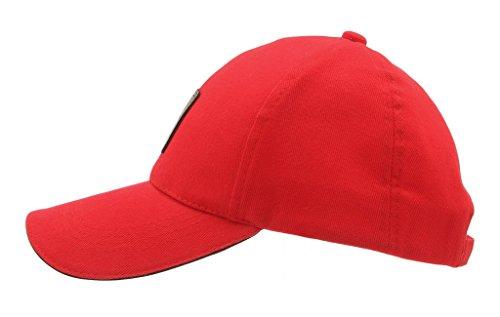 EOZY Casquette De Baseball Femme Visière Coton Chapeau Baseball Soleil Sport Rouge