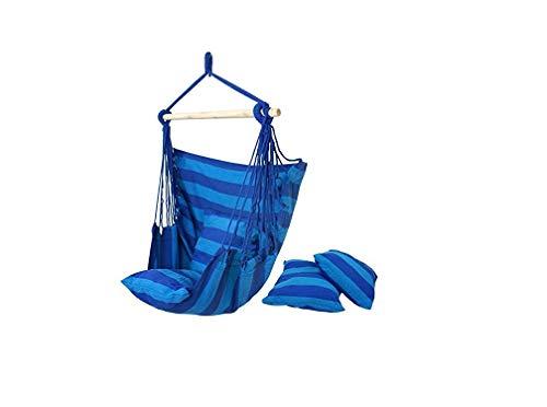Pkfinrd Garten Hängesessel Air Sky Swing Schaukel Veranda Schaukelsitz Schaukel Camping 100 cm lang x 120 cm breit (blau)