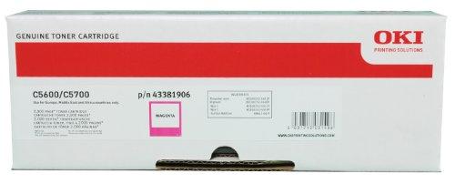 Preisvergleich Produktbild OKI Tonerkartusche für 2000 Seiten 1 Stück, magenta