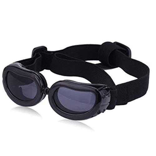 PETSUPPLY0 Hundeschutzbrillen Sonnenbrille Wasserdicht Winddicht Augenschutz für Haustier Anti-UV Anti-Fog,Black