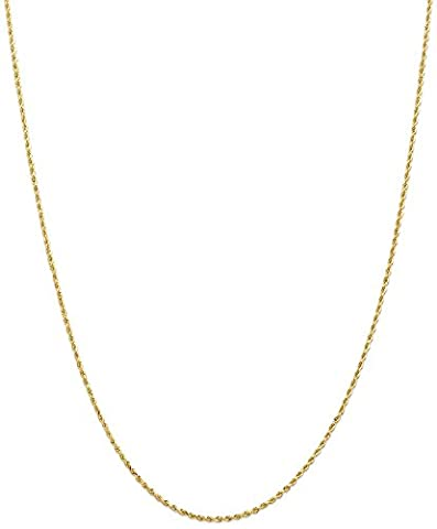 IceCarats Designer Schmuck Leslies 14K 1,5mm Diamond Cut Rope Chain In 24 Zoll