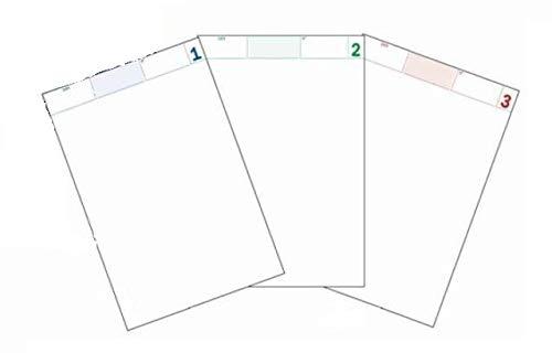 50 blocchi comande a 3 copie autoricalcante 25x3 (17x10 cm) 25+25+25