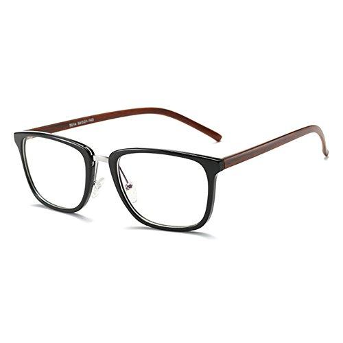 Highdas Anti Blue Light Brillen Clear Lens Gläser Geek/Nerd Retro Brille Rahmen für Männer Frauen