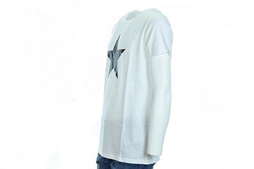 CONVERSE Man T-Shirt m / c 10004889-A02 T-SHIRT SS BOYFRIEND LOGO MOD. Bianco