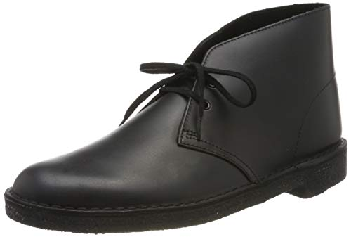 Clarks ORIGINALS Herren Desert Boot Klassische Stiefel, Schwarz (Black Polished Black Polished), 44 EU