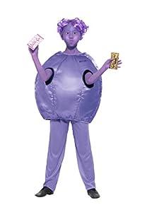 Smiffys 41542l Roald Dahl disfraz de violeta beauregarde, morado, Large, UK 10-12