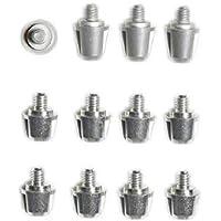 Kakari Light/Malice/Incurza 14mm + 11mm Aluminium Studs - 12 Pack Silver