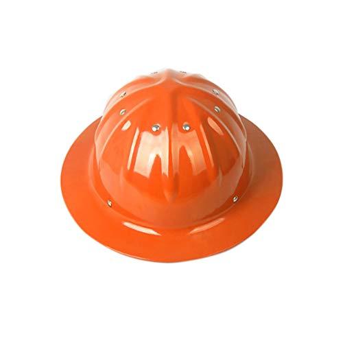 DLMTK Aluminiumhelm, Arbeitshelm, Außenhelm Hardhats,Kopfschutz,Bauarbeiterhelm Schutzhelm Baustellenhelm Elektrikerhelm (50 * 36 * 60cm,Orange)