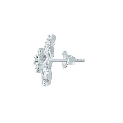Giantti Diamant pour femme pendantes Boucles d'oreilles (0,38CT, qualité HSI, Gh-colour)