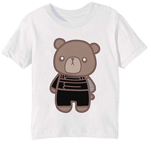 17ae7b61627c7 Invierno Abucheo Oso 1 - Oso Niños Unisexo Niño Niña Camiseta Cuello  Redondo Blanco Manga Corta