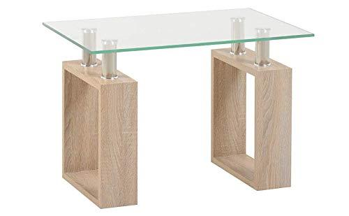 Gehärtetes Klar Glas Tisch (Generic Standbeine mit offenen D-Standfüßen, offenes Schrank, Op Top Couchtisch Wo Klares gehärtetes Glas Tisch Holz Pered Glas T)