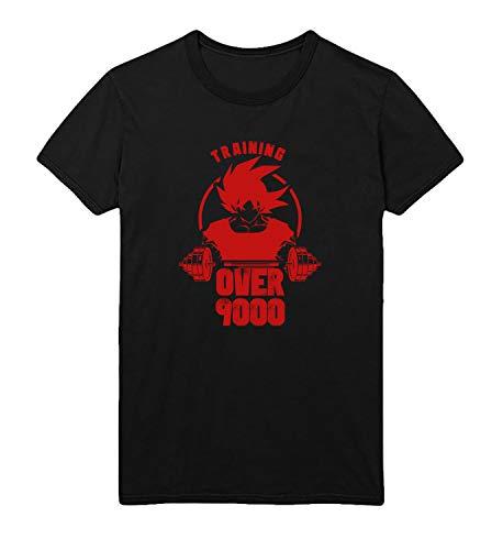 Dragon Ball Z Goku Fit Train Over 9000 Lift_R5373 for Für Männer Herren Man Shirt T-Shirt Tshirt T Shirt Gift for Him Her Lustige Present - L White Men's -